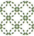Eyes or beads seamless pattern green vector image