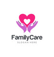 family care logo design template vector image vector image