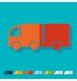 Flat design truck vector image vector image