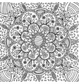 floral graphic mandala - coloring page for adults vector image vector image