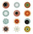 floral symbols vector image vector image