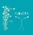 flowers pattern - flat design floral background vector image