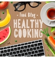 Food blog healthy cooking recipes online vector image vector image