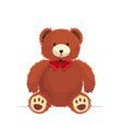 funny teddy bear cute toy icon vector image