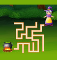 game witch maze find their way to the for a cauldr vector image