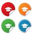 Graduation cap sign icon Education symbol vector image vector image