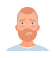 guilty expression on a man with a beard vector image vector image