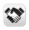 Handshake button - agreement business vector image vector image