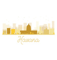 Havana City skyline golden silhouette vector image