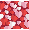 heart pattern seamless vector image vector image