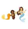 mermaid nixie character vector image vector image