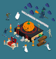 monster halloween isometric composition vector image vector image