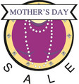 mother day sale banner vector image vector image