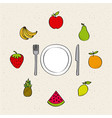 natural and fresh fruits vector image vector image