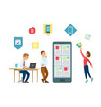 Office it workers and mobile app development
