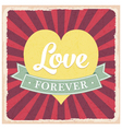 Old vintage Valentine greeting card vector image vector image