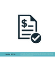 paper document icon logo template design eps 10 vector image vector image