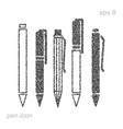 pen icon set vector image