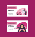 pink and white business cards with driving licence vector image vector image
