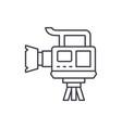 professional video camera line icon concept vector image vector image