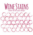red wine stains on white background template for vector image
