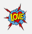 retro style sticker patch badge with sound effect vector image vector image