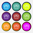 retro telephone handset icon sign Nine multi vector image vector image