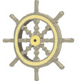 sea-craft steering wheel on a white background vector image vector image