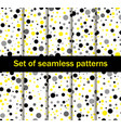 seamless patterns with circles black and yellow vector image