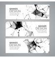 set geometric polygonal banners Technology vector image vector image
