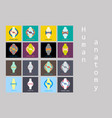 set of knee joint health care icon flat vector image vector image