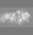 set of star burst and sparkles with glowing light vector image