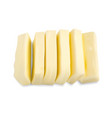 slices of butter isolated vector image