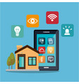 smartphone controlling smart home vector image