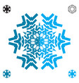 snowflake blue flat icon isolated vector image