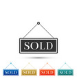 sold sign on white background sold sticker vector image