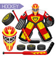 sports hockey set vector image vector image