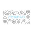 start-up horizontal line vector image vector image