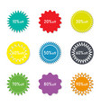 sticker sale and discount label for price vector image