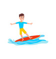 surfing sport activity and boy vector image
