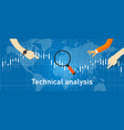 technical analysis investment stock trading based vector image vector image