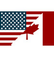 usa and canada flags flags in flat style vector image