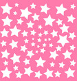 white stars on pink sky background baby dreams vector image
