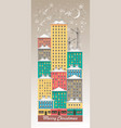 winter night city vector image