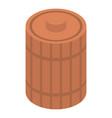 wood honey barrel icon isometric style