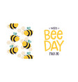 world bee day cute cartoon insect banner vector image vector image