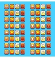 yellow game icons buttons icons interface ui vector image vector image