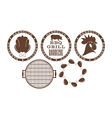 Barbecue grill Stamp vector image