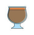coffee beverage in glass cup icon image vector image