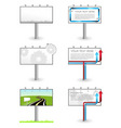 vector advertising outdoor blank billboards set vector image